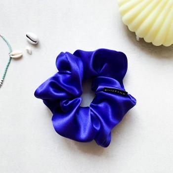 Cobalt Silk Scrunchie -  jedwabna gumka do włosów