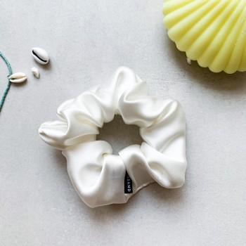 Latte Silk Scrunchie -  jedwabna gumka do włosów