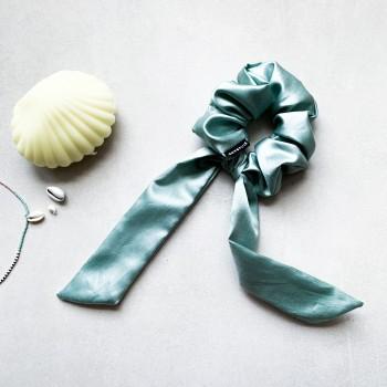 Sage Silk Bow - gumka ze wstążką z jedwabiem