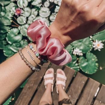 Candy Silk Scrunchie -  jedwabna gumka do włosów