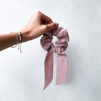 Sunset Linen Bow - scrunchie ze wstążką