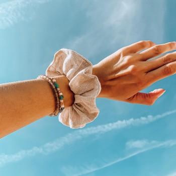 Sand Linen Scrunchie - lniana gumka do włosów