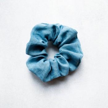 Aqua Linen Scrunchie - lniana gumka do włosów