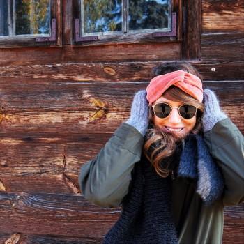 Papaya Velvet Turban - opaska do włosów