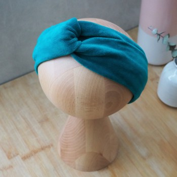 Azure Velvet Turban - opaska do włosów