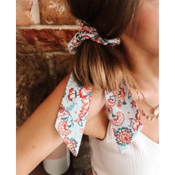 Summer Paisley Bow Scrunchie - gumka do włosów
