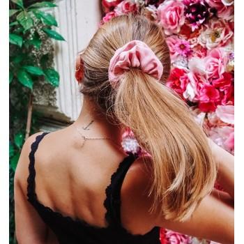 Rose Linen Scrunchie - lniana gumka do włosów